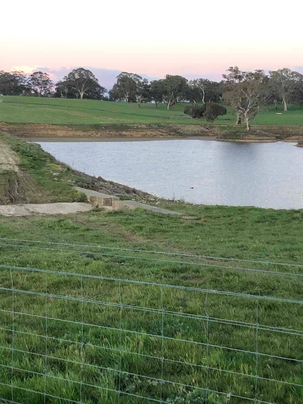 A dam after Dam Floccing in Nairne, Adelaide.